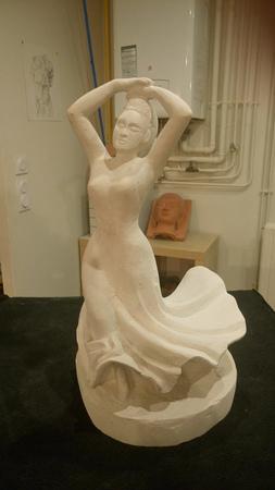 enseignement-travaux-eleves-Danseuse Flamenco