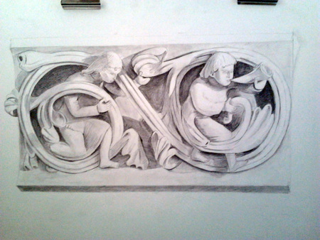 etude-dessin-Bas Relief Roman