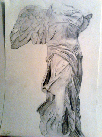 etude-dessin-Victoire de Samothrace