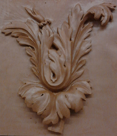 etude-modelage-Feuille de Choux Louis XVI