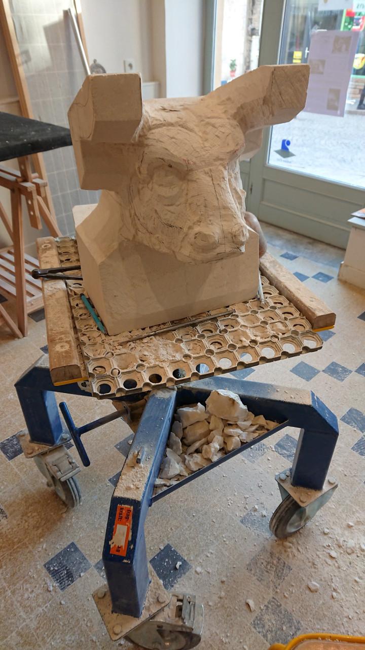 sculpture-figuratif-le-Minotaure